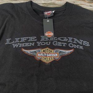 NWT Harley Davidson T-shirt Life Begins Mens xl